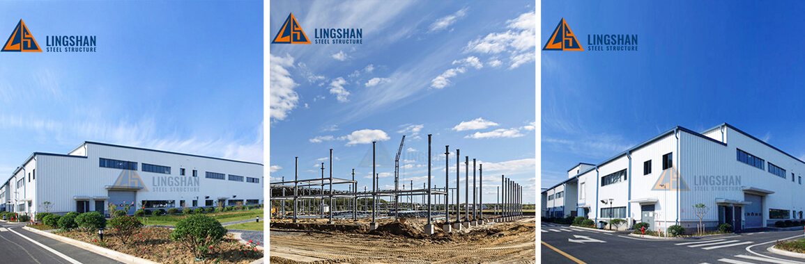 ready made large light steel structure construction workshop