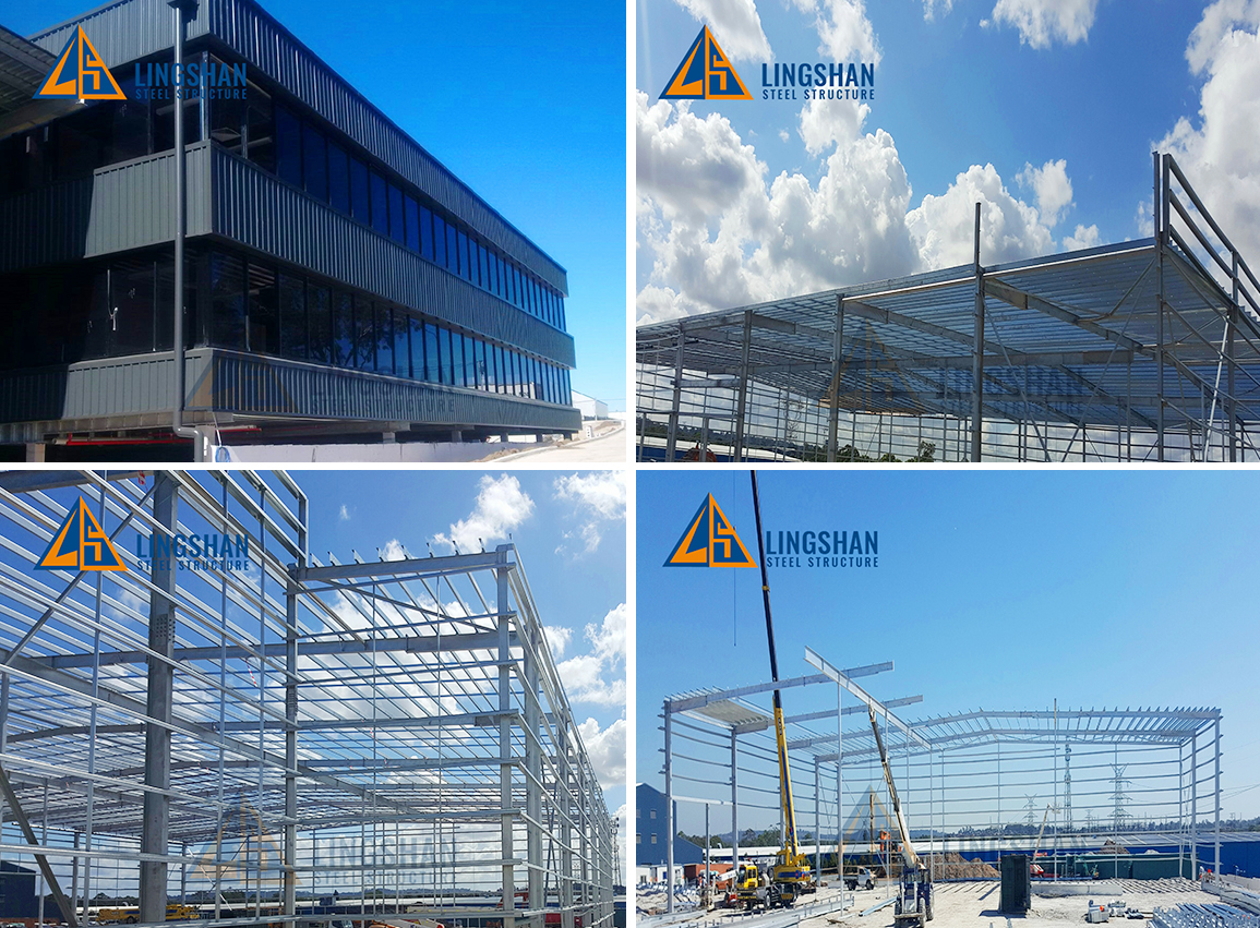 Large prefabricated  steel structure storage warehouse building