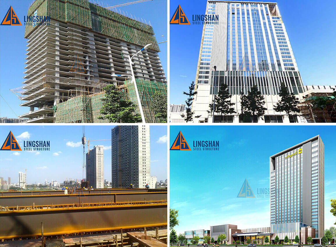 High Rise Prefab Steel Structure Hotel Building Construction1