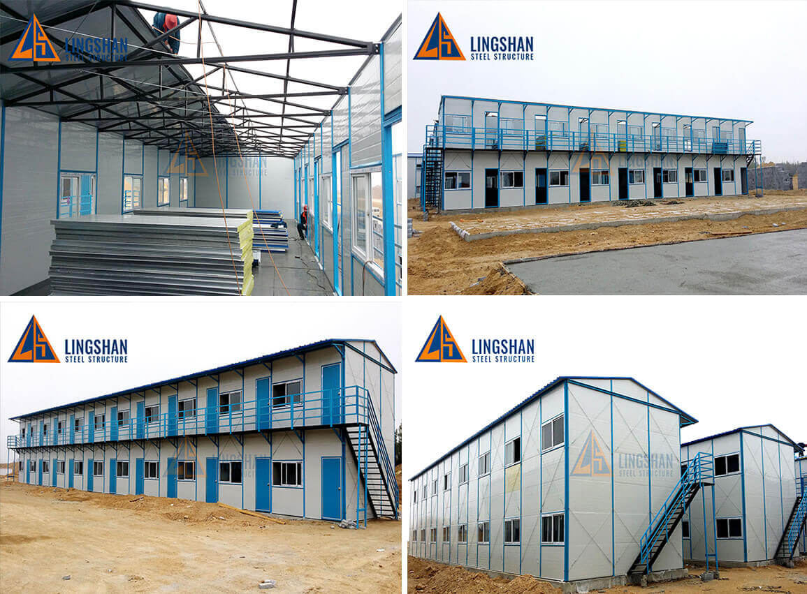 Fast Prefabricated Steel Structure Labour Camp Worker House1