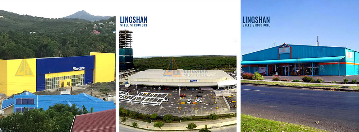 Prefabricated Steel Structure Shopping Mall Supermarket Building Construction1