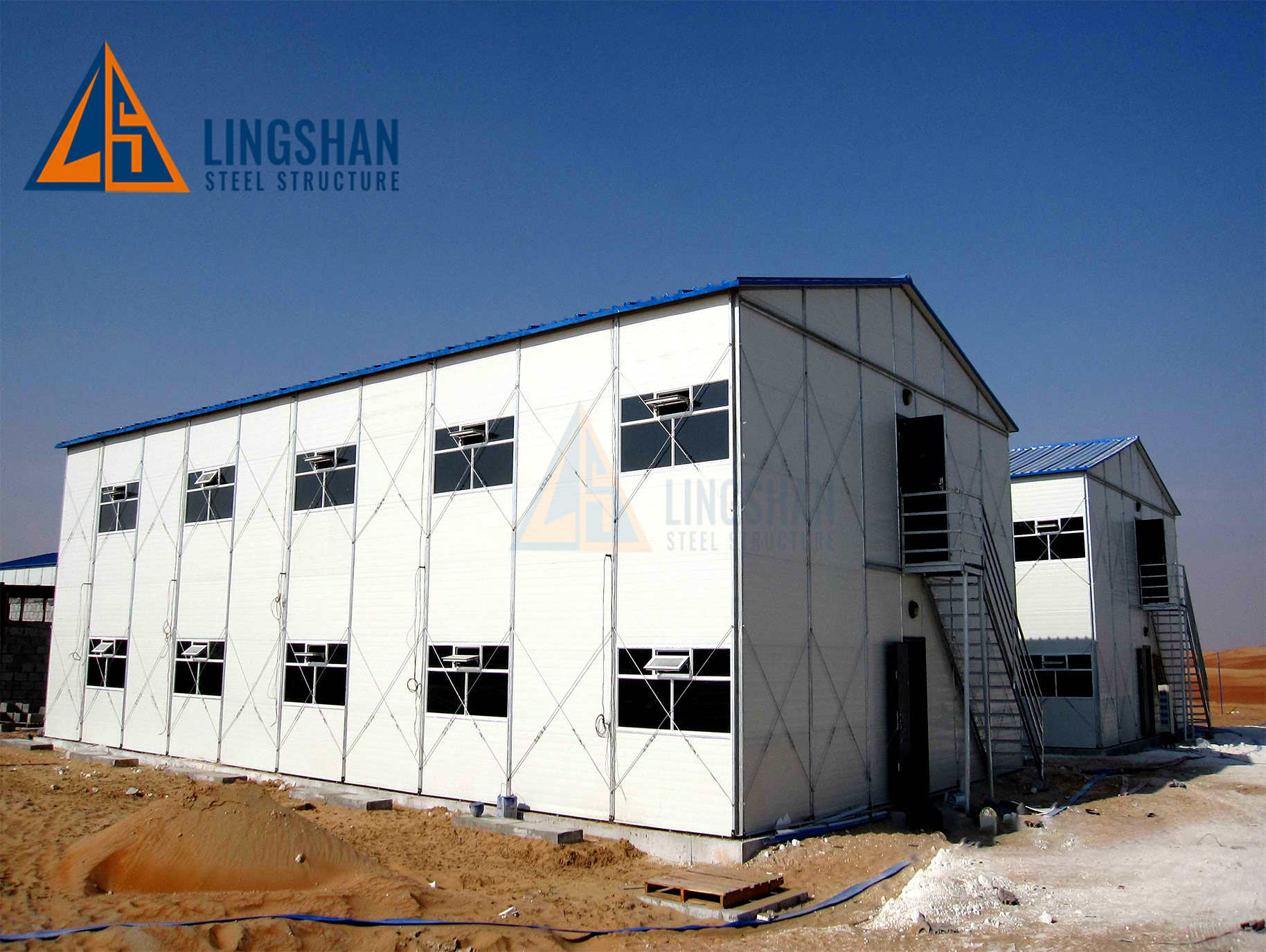 prefab steel structure labour camp workers dormitory house building