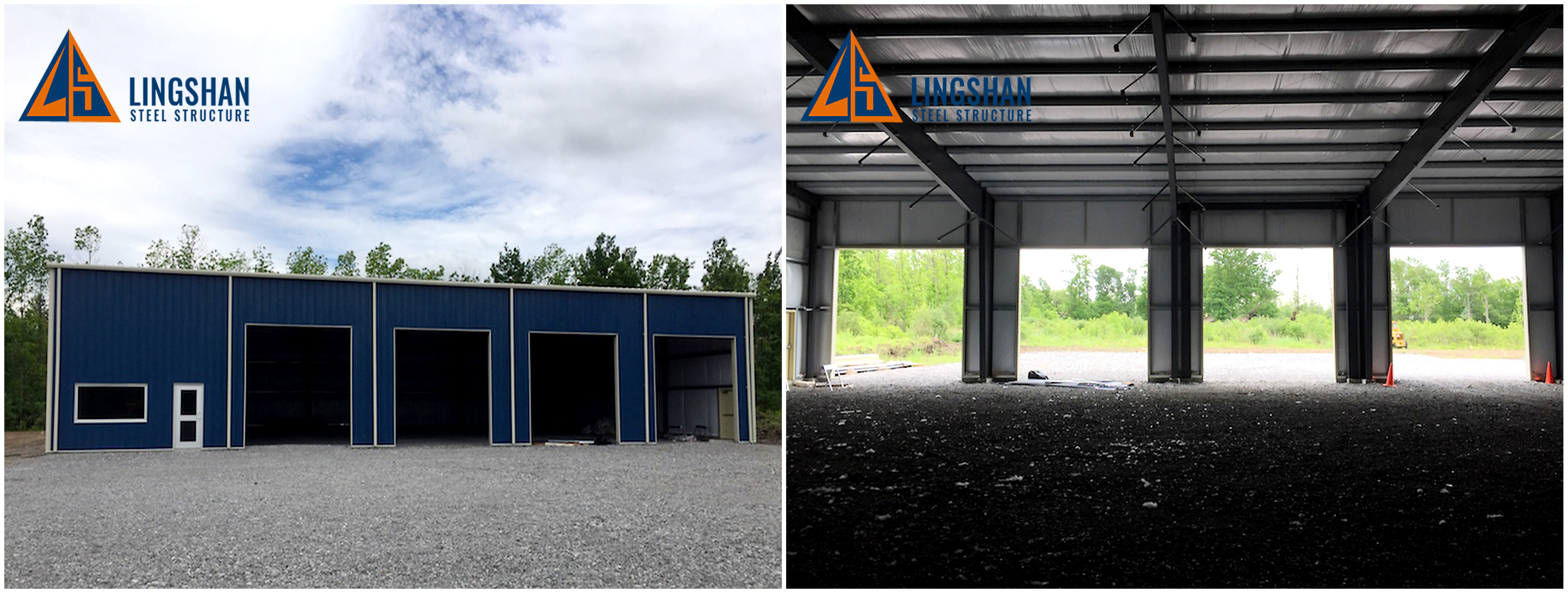 prefab metal steel structure car shed house